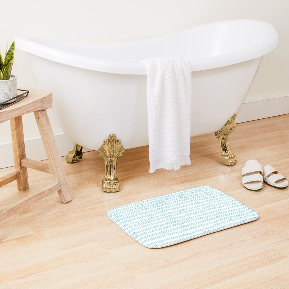 Blue grass - a handmade pattern Bath Mat
