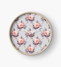 Vintage floral pattern  Clock