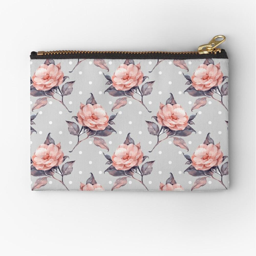 Vintage floral pattern  Zipper Pouch