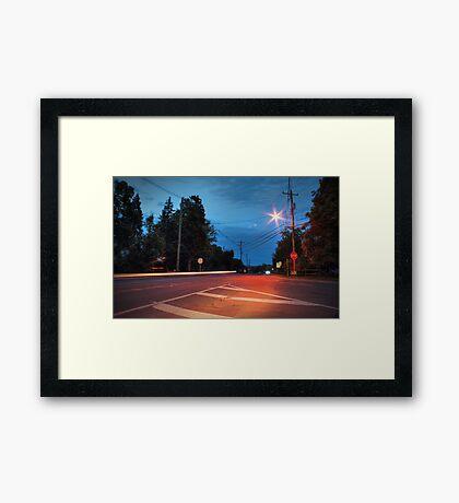 Route 118 (Lehman Center) Framed Print