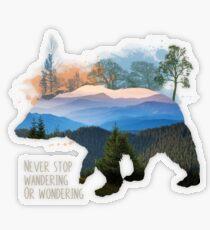 Wandering Transparent Sticker