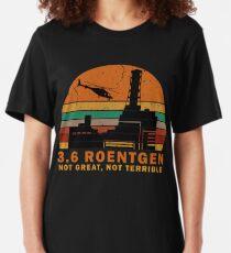 3.6 Roentgen Not Great, Not Terrible vintage t shirt Slim Fit T-Shirt