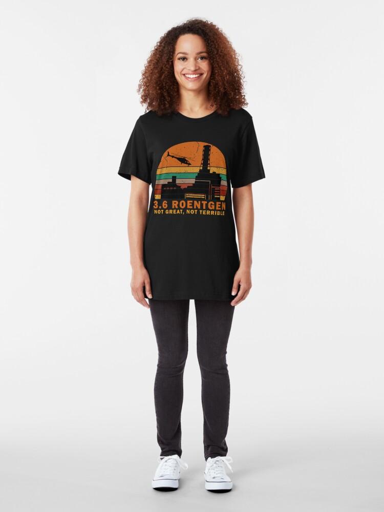 Vista alternativa de Camiseta ajustada 3.6 Roentgen no grande, no terrible camiseta del vintage