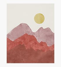 Mountain Desert Sunrise Photographic Print