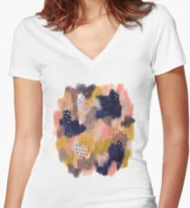 Vernal Abstract  Fitted V-Neck T-Shirt