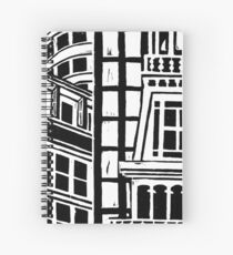 City Landscape Black and White Spiral Notebook
