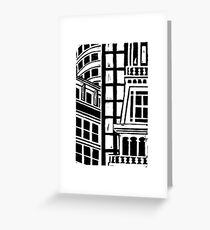 City Landscape Black and White Greeting Card