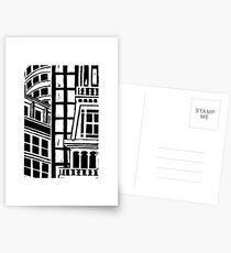 City Landscape Black and White Postcards