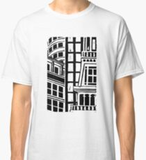 City Landscape Black and White Classic T-Shirt