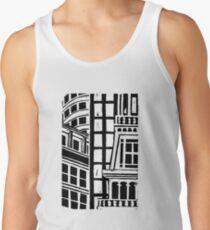 City Landscape Black and White Tank Top