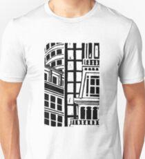 City Landscape Black and White Slim Fit T-Shirt
