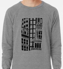 City Landscape Black and White Lightweight Sweatshirt