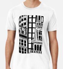 City Landscape Black and White Premium T-Shirt