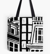 City Landscape Black and White Tote Bag