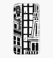 City Landscape Black and White iPhone Case