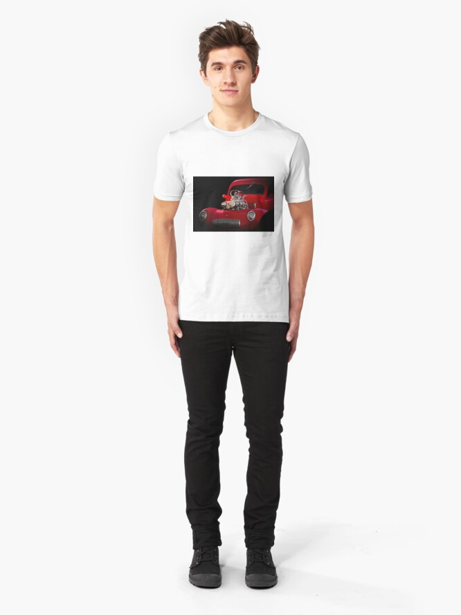 Alternate view of 1941 Willys 'Blown' Coupe Slim Fit T-Shirt