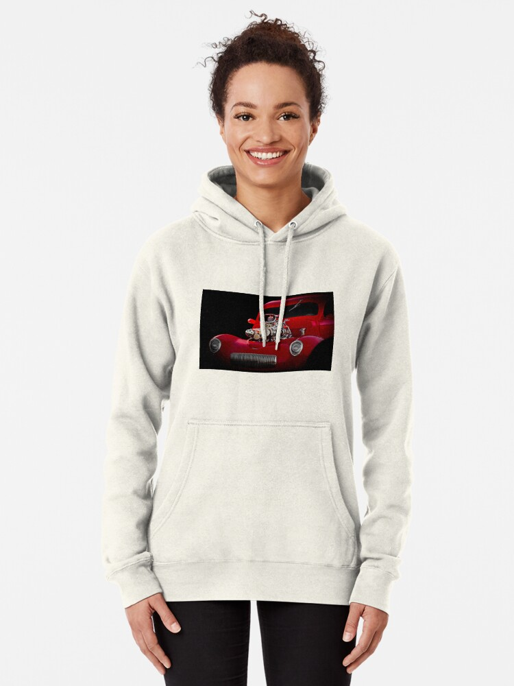 Alternate view of 1941 Willys 'Blown' Coupe Pullover Hoodie