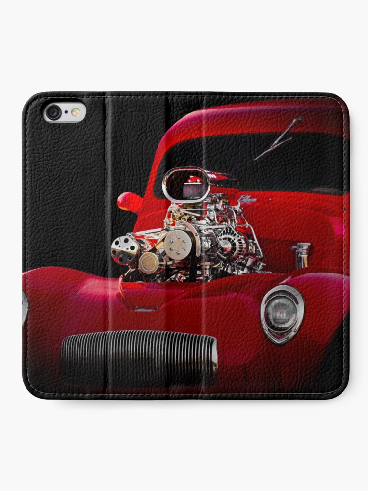 Alternate view of 1941 Willys 'Blown' Coupe iPhone Wallet