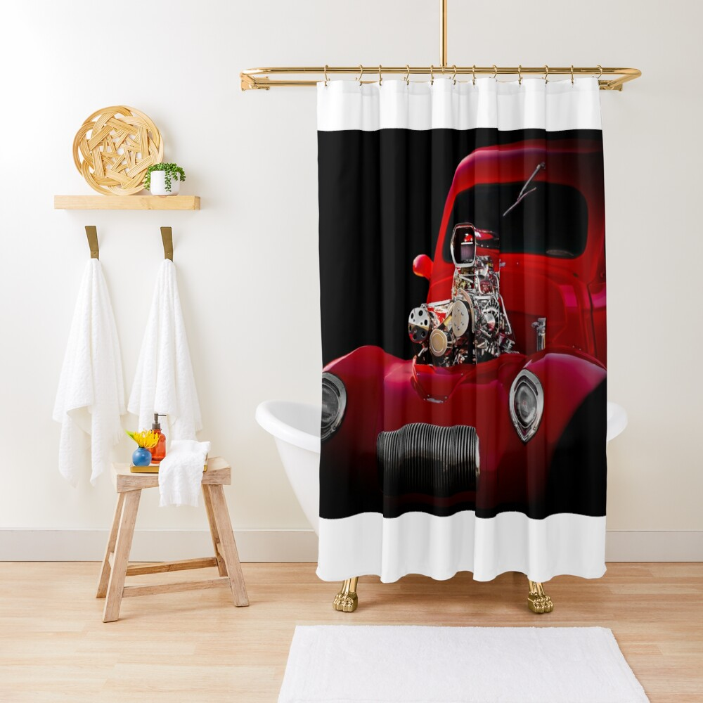 1941 Willys 'Blown' Coupe Shower Curtain