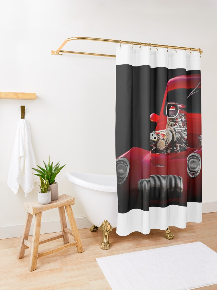 Alternate view of 1941 Willys 'Blown' Coupe Shower Curtain