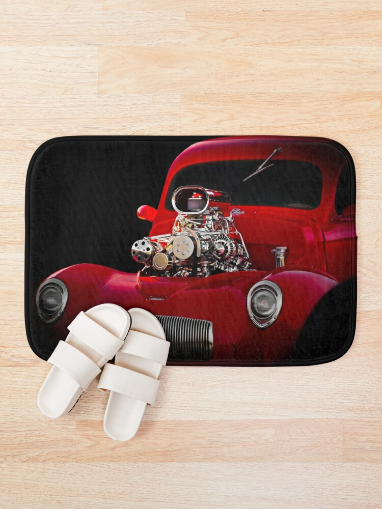 Alternate view of 1941 Willys 'Blown' Coupe Bath Mat