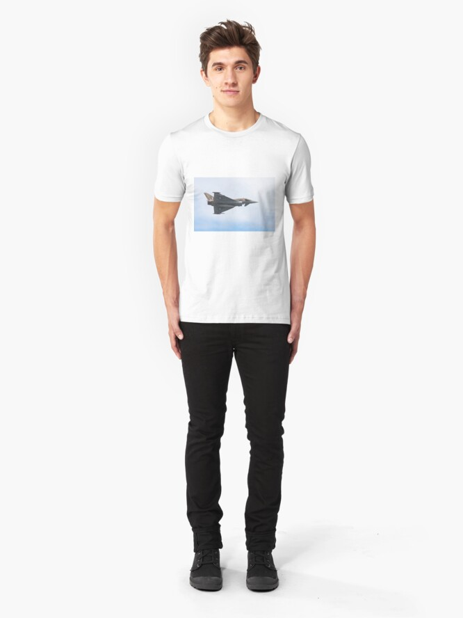 Alternate view of FRG4 Typhoon Eurofighter Jet Fighter Plane Slim Fit T-Shirt