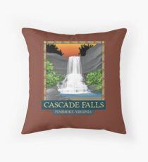Cascade Falls, VA Throw Pillow