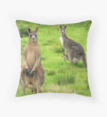 soggy kangaroos Throw Pillow