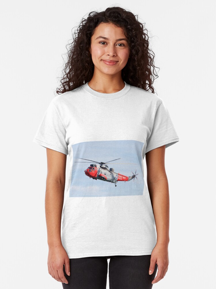 Alternate view of Royal Navy Sea King Rescue Helicopter Classic T-Shirt