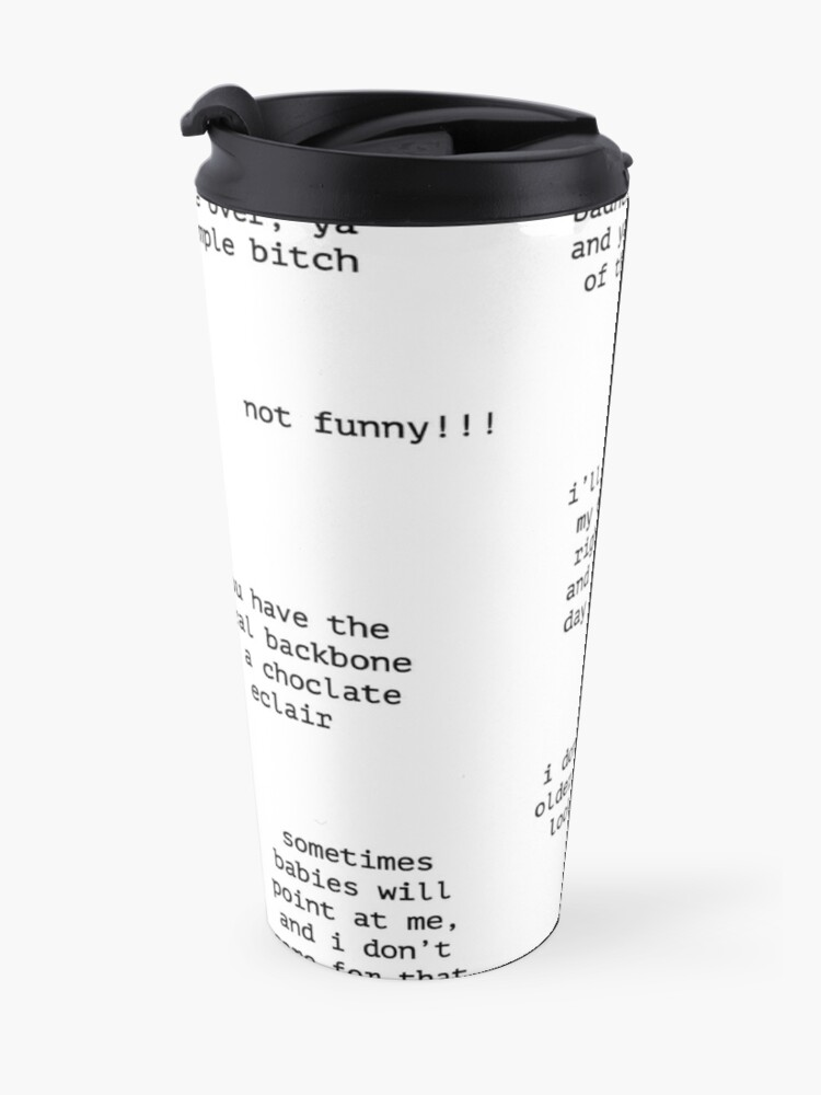 Alternate view of John Mulaney Quotes Travel Mug