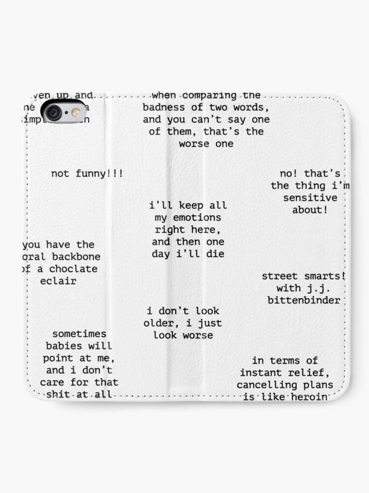 Alternate view of John Mulaney Quotes iPhone Wallet