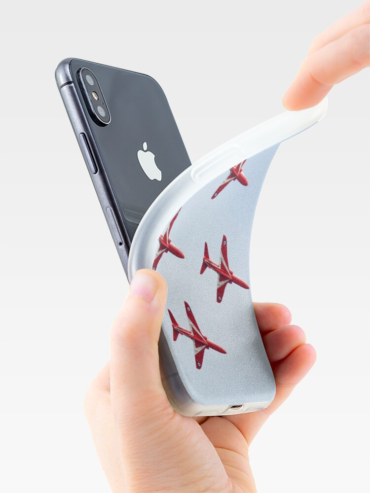 Alternate view of RAF Red Arrows Aerobatics Display Team iPhone Case & Cover