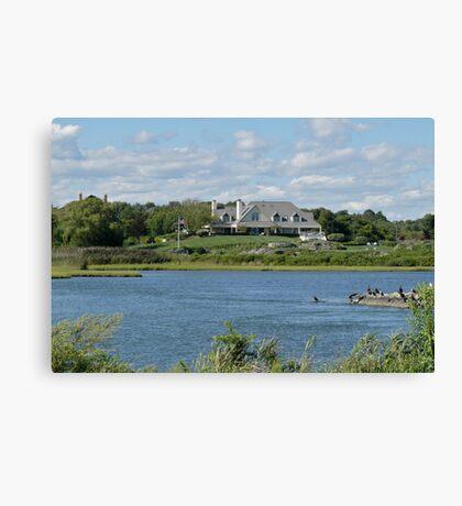 Salt Pond - Goose Neck Cove - Newport - Rhode Island Canvas Print