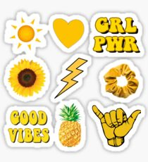 Yellow Aesthetic Stickers Pack Sticker