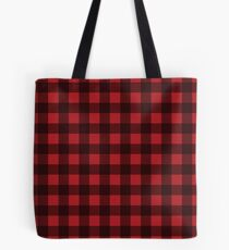 Buffalo Plaid in Lumberjack Red and Black Tote Bag
