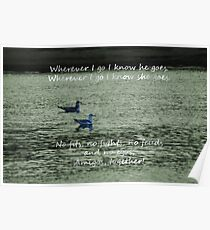 Together, Wherever We Go...Two Seagull Cards Poster