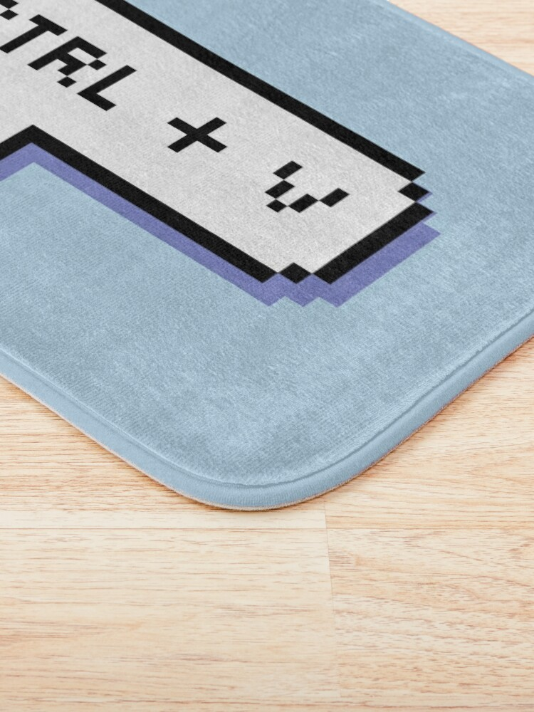 Alternate view of CTRL + V - Pixel Speech Bubble - (Blue) Bath Mat