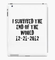 I Survived 2012 iPad Case/Skin