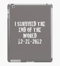I Survived 2012 (White Text) iPad Case/Skin