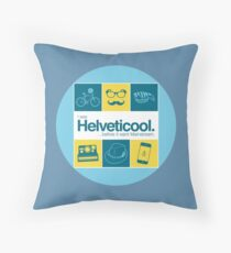 I'm helveticool Throw Pillow