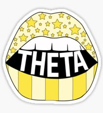 Theta Lips Sticker
