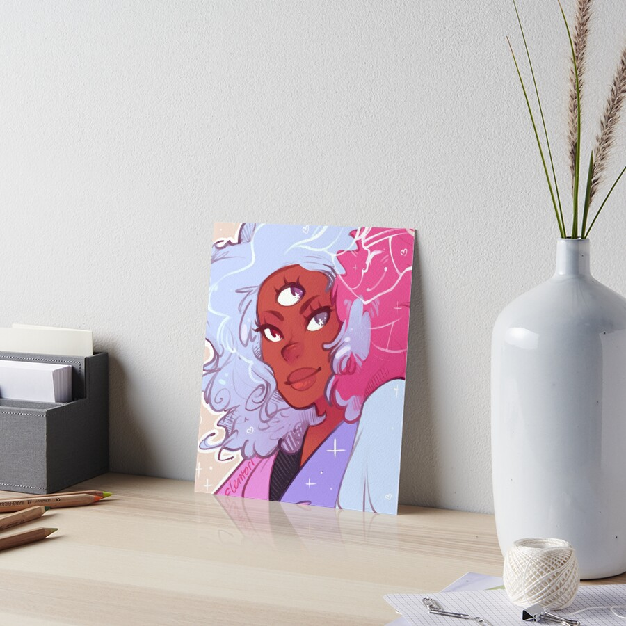 The Answer is Love Art Board Print