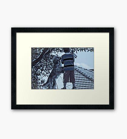 A Boy & His Dog Framed Print