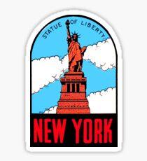 Freiheitsstatue New York Vintage Travel Aufkleber Sticker