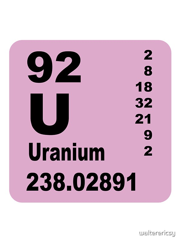 Uranium periodic table of elements stickers by walterericsy uranium periodic table of elements by walterericsy urtaz Image collections