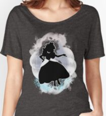 Super Smash Bros. White Peach Silhouette Women's Relaxed Fit T-Shirt