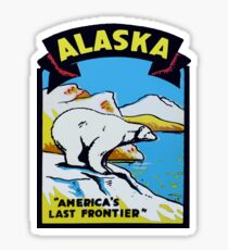 Alaska AK State Vintage Reise Aufkleber Sticker