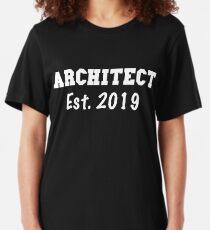 Architect Est. 2019 - Architect Graduation Gift - Gift For Architect - Architect Gifts  Slim Fit T-Shirt