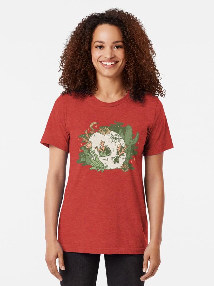 Alternate view of Desert Skull Tri-blend T-Shirt