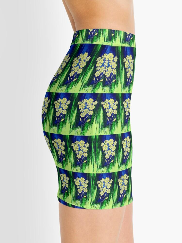 Alternate view of Flowers in Yellow Mini Skirt